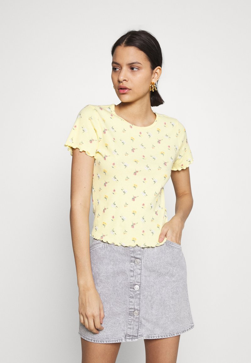 Hollister Co. - LETTUCE BABY TEE - Print T-shirt - yellow