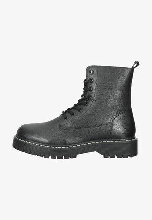 Snørestøvletter - black/grey leather