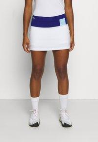 Lacoste Sport - TENNIS SKIRT - Sportovní sukně - cosmic/white/greenfinch - 0