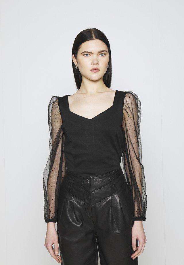 VISPENSA - T-shirt à manches longues - black
