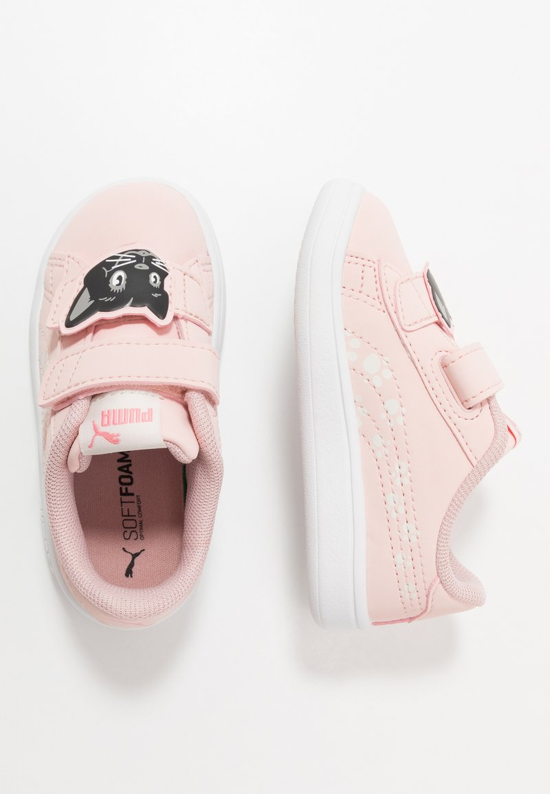 Puma - SMASH ANIMALS - Trainers - peachskin/vaporous gray
