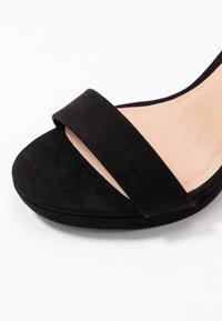 New Look - QUEEN - Sandály na vysokém podpatku - black - 2