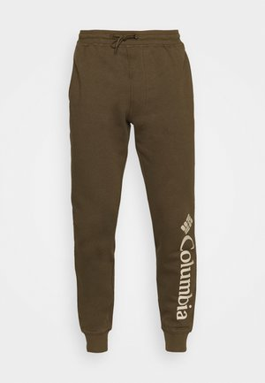 LOGO JOGGER - Tracksuit bottoms - olive green/ancient fossil
