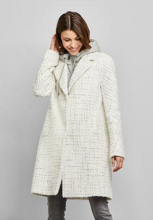 Classic coat - white/grey