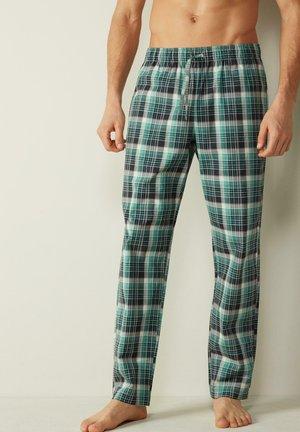 Pyjama bottoms - check blu/verde