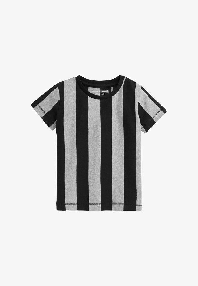 SHORT SLEEVE VERTICAL STRIPE - T-shirt print - blue