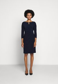 Lauren Ralph Lauren - MID WEIGHT DRESS TRIM - Pouzdrové šaty - lighthouse navy - 1