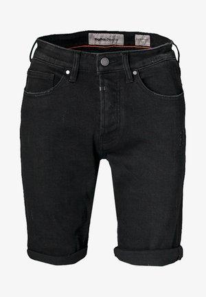 SOLOMON  - Denim shorts - black