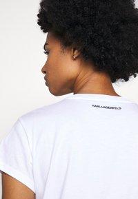 KARL LAGERFELD - ADDRESS LOGO POCKET - Print T-shirt - white - 5