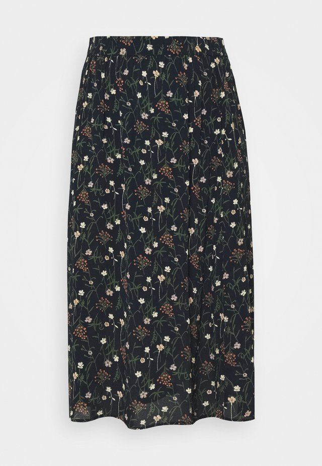 PCSKYLAR MIDI SKIRT CURVE - Gonna a campana - sky captain