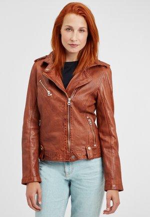 GGFAMOS LAMAXV - Leather jacket - cognac