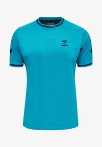 Hummel - T-shirt med print - atomic blue  black iris - 0