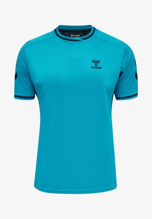 T-shirts print - atomic blue  black iris