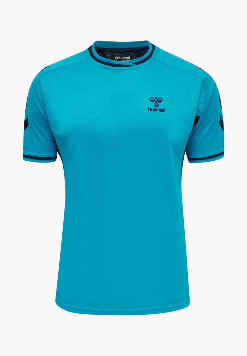 Hummel - T-shirt med print - atomic blue  black iris