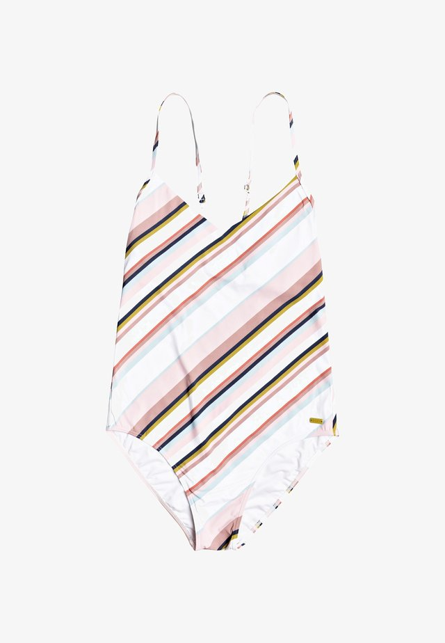 Swimsuit - bright white oriental stripe s