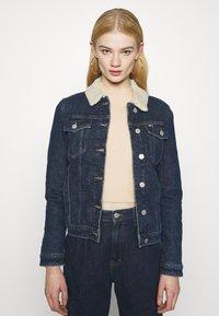 Tommy Jeans - TRUCKER JACKET  - Denim jacket - oslo dark blue - 0