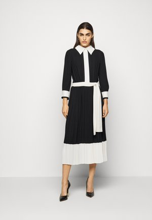 WOMEN DRESS - Shirt dress - nero/burro