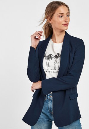 RELAXED SOFT CREPE - Manteau court - blue