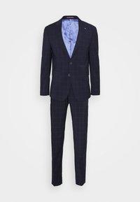 FLEX CHECK SLIM FIT SUIT - Kostym - blue