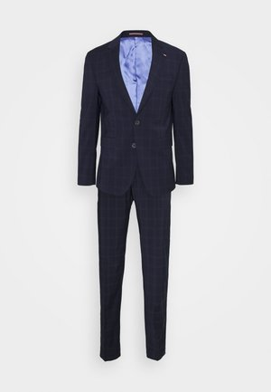 FLEX CHECK SLIM FIT SUIT - Oblek - blue
