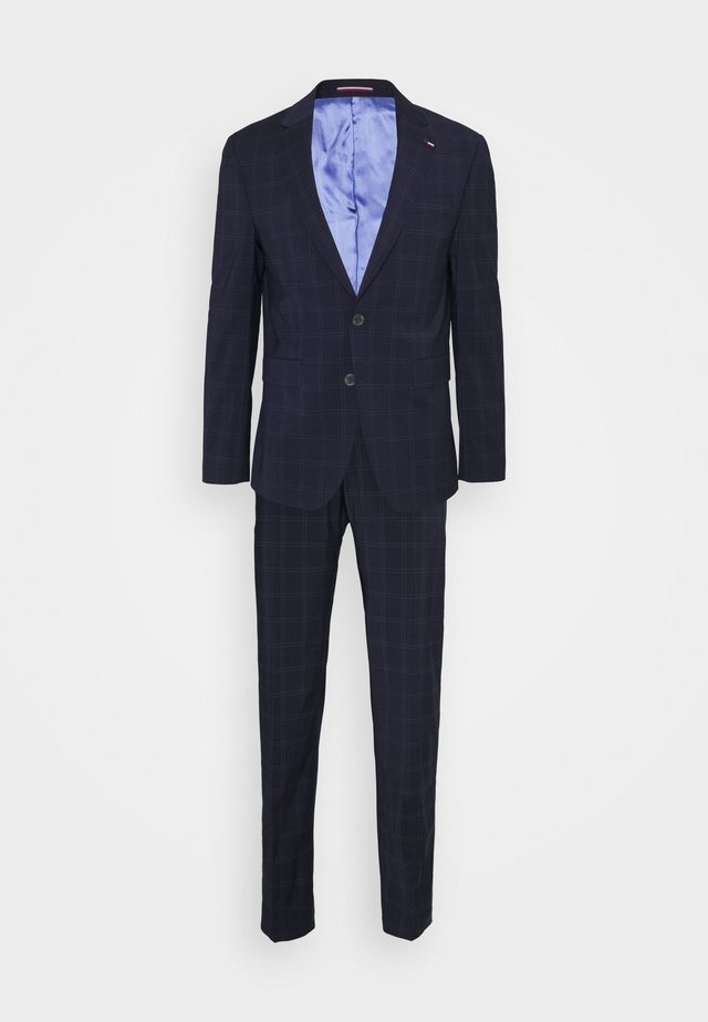 FLEX CHECK SLIM FIT SUIT - Completo - blue