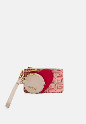 3 IN 1 POUCH KEYRING SET - Monedero - blush/red