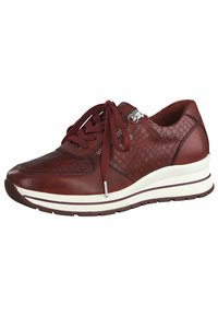 Tamaris Pure Relax - LACE UP - Trainers - scarlet/croco - 4