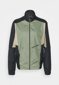 Jack & Jones - JORRODMAN BLOCKED TRACK JACKET - Kevyt takki - sea spray - 6