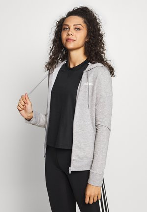 veste en sweat zippée - grey/white