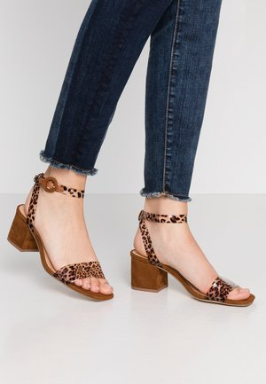 ONNY - Sandals - brown/cognac