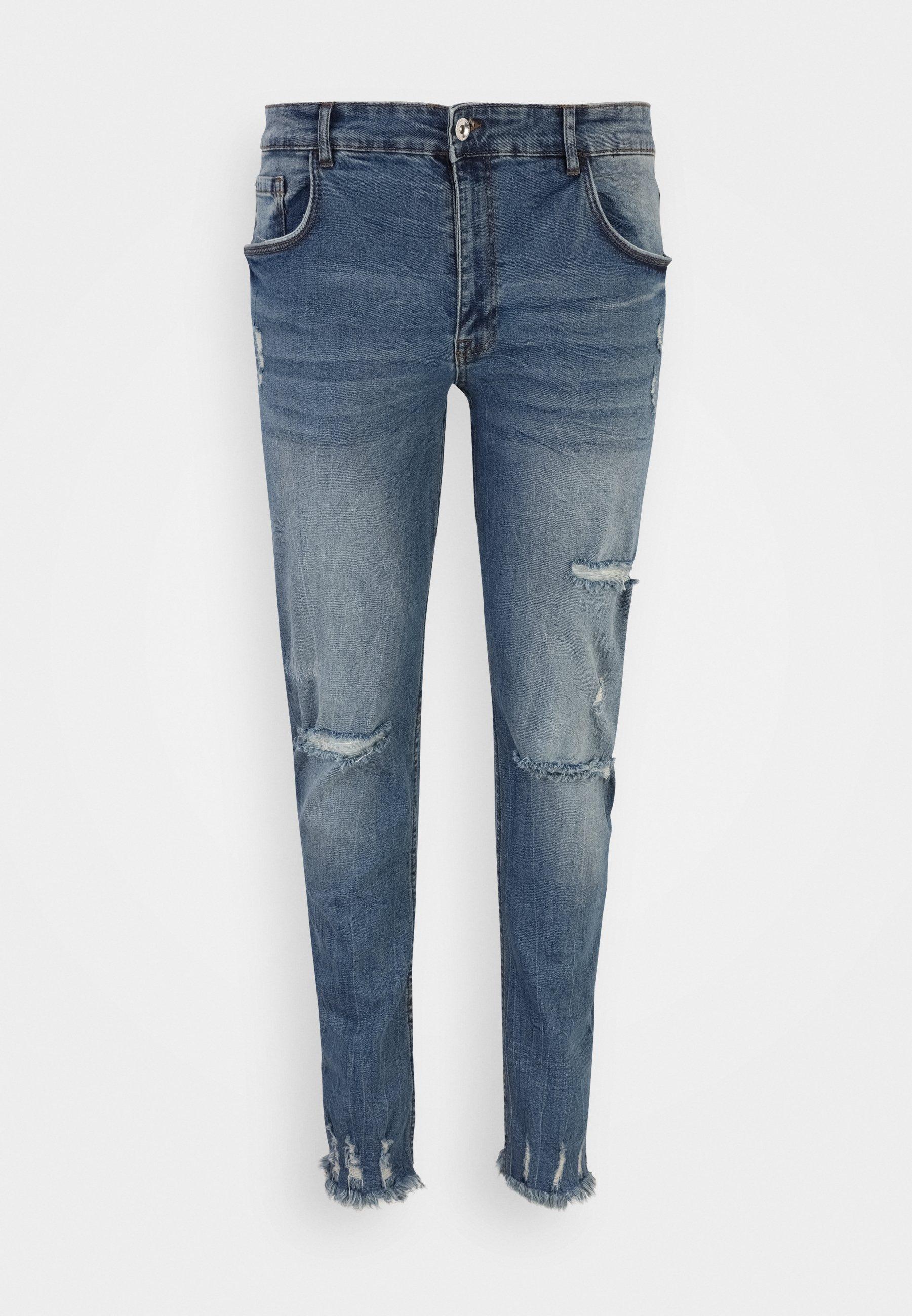 Men RRSTOCKHOLM DESTROY PLUS - Slim fit jeans