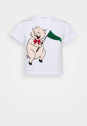 PANCETTA CROP TEE - T-shirt con stampa - white