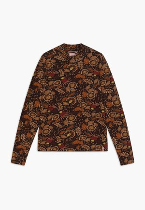 LONG SLEEVE FLOWER - Top s dlouhým rukávem - multi-coloured