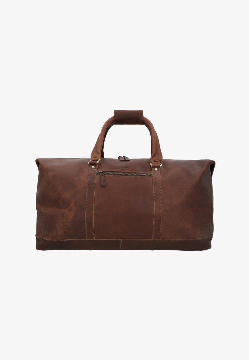 Gusti Leder - RUBEN - Weekend bag - camel