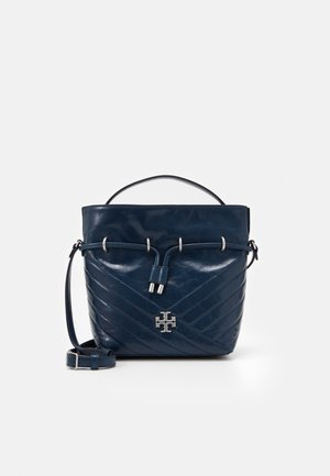 KIRA CHEVRON TEXTURED MINI BUCKET BAG - Handtasche - federal blue