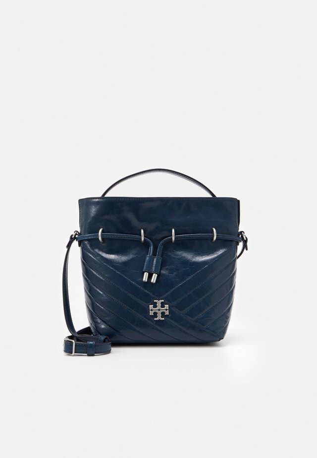 KIRA CHEVRON TEXTURED MINI BUCKET BAG - Bolso de mano - federal blue