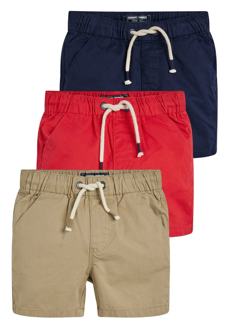 Next - 3 PACK PULL-ON SHORTS - Kraťasy - blue