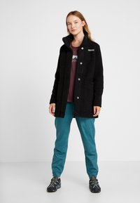 Columbia - PANORAMA LONG JACKET - Forro polar - black - 1