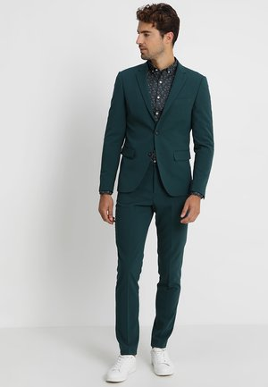 PLAIN MENS SUIT - Oblek - dark green