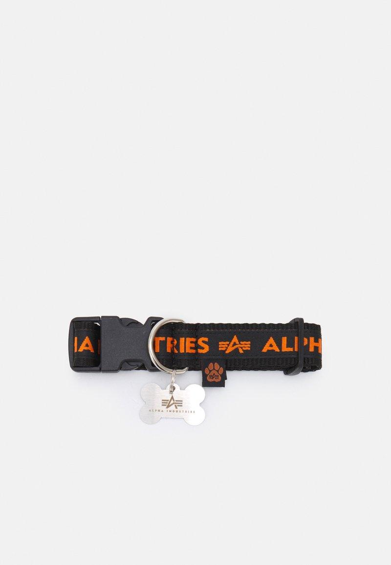 Alpha Industries - AI DOG TAG COLLAR - Other accessories - black/orange