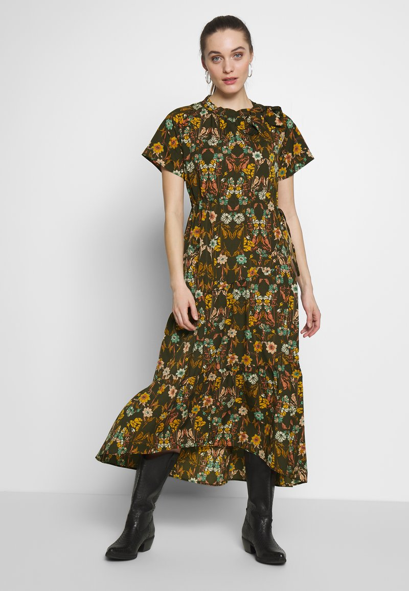 Sisley - DRESS - Day dress - khaki