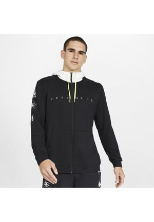 DRI-FIT MET RITS  - Fleece jacket - black/white/volt