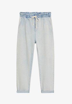 JEANS MIT STRETCHBUND UND KORDEL - Relaxed fit jeans - hellblau