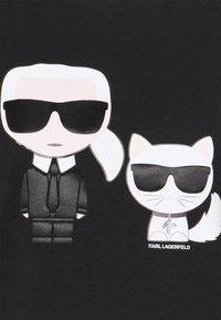 KARL LAGERFELD - IKONIK CHOUPETTE TEE - Print T-shirt - black - 6