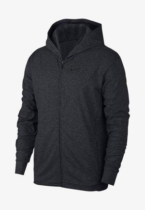 MIT DURCHGEHENDEM REISSVERSCHL - Zip-up hoodie - black/dark grey