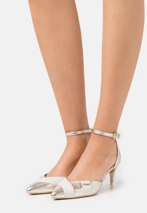 KATIA TWO PIECES  - Klassieke pumps - gold/white