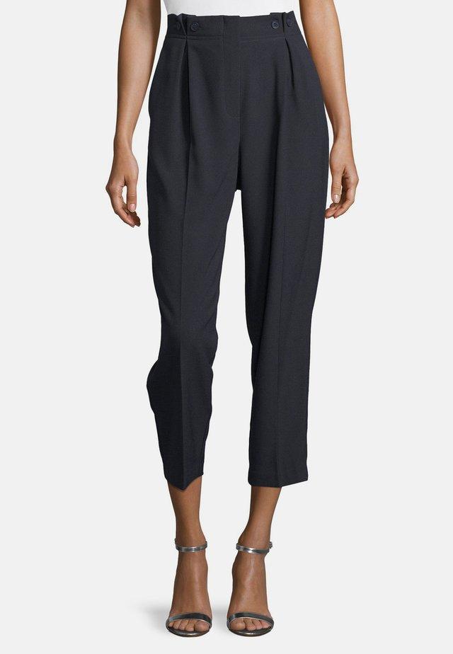 MIT BUNDFALTEN - Trousers - dunkelblau