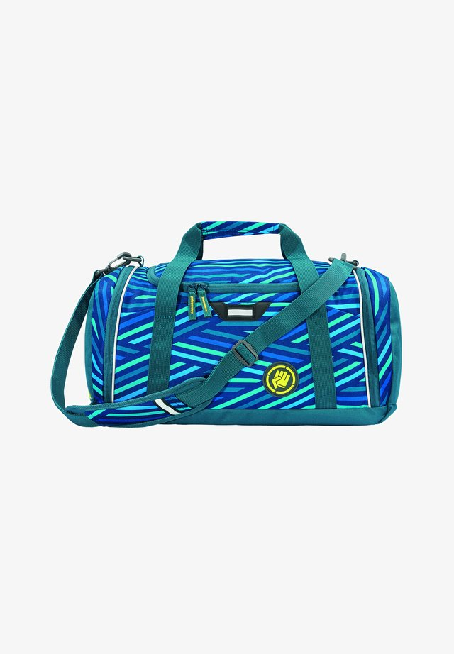 SPORTERPORTER - Sports bag - zebra stripe blue