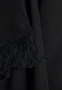 Mother of Pearl - SHORT DRESS WITH V BACK AND DRAPED SLEEVE - Vestido informal - black - 2