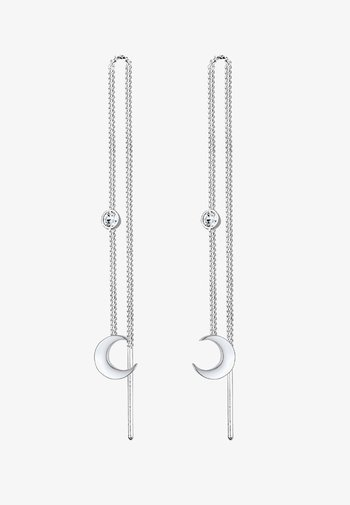 GLASS CRYSTAL - Earrings - silver-coloured